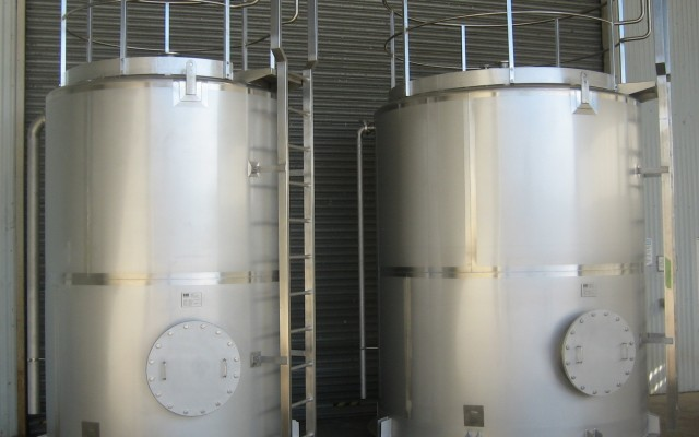 10m³ Acid and 15m³ Caustic Tanks