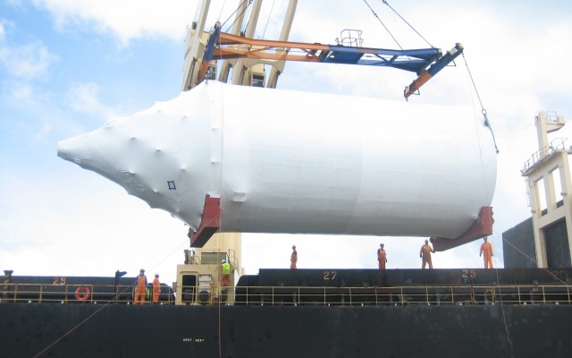 Loading Silos on to Ship