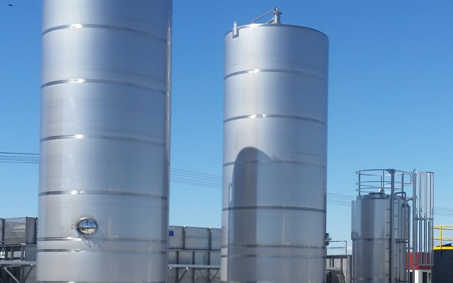 80m³ Sludge Silos & 15m³ Acid Storage Tank